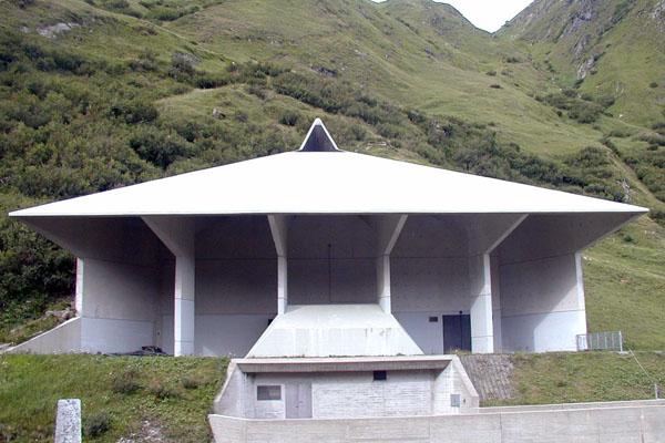 Rino Tami, Pozzo di ventilazione del Motto di Dentro, San Gottardo, Svizzera - Immagine © vitruvio.ch