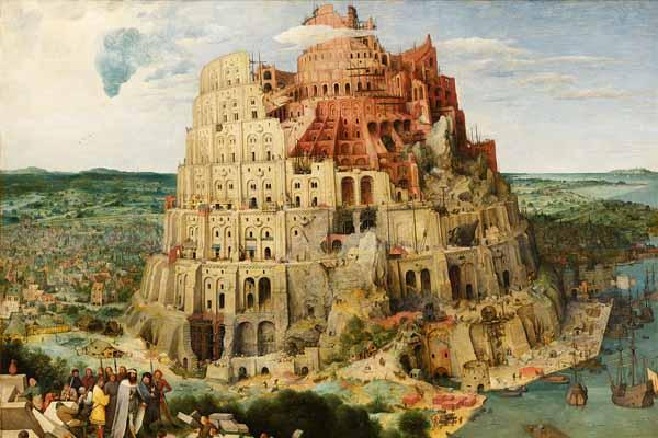 La torre di Babele, Babilonia, Iraq - Disegno: Pieter Bruegel