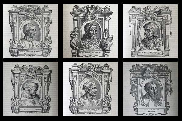 Architetti da le Vite del Vasari