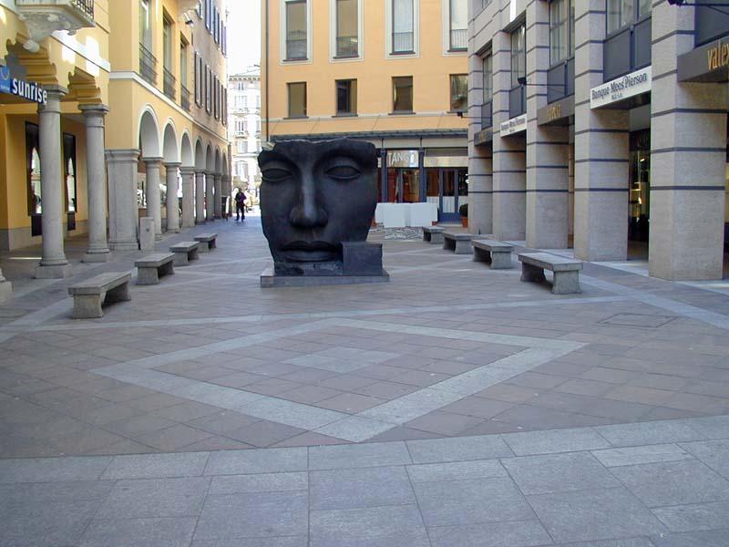 Pavimentazione del centro storico di Lugano