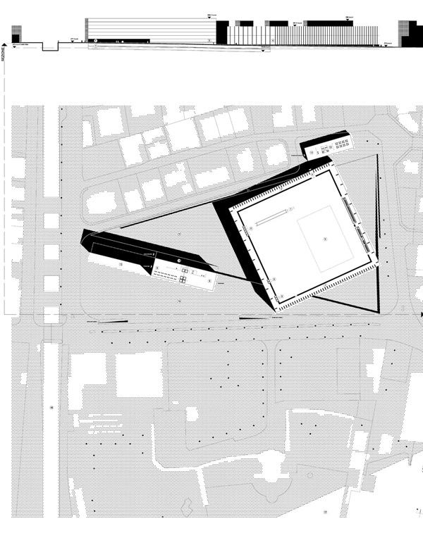 Progetto per il centro dei congressi Campo Marzio