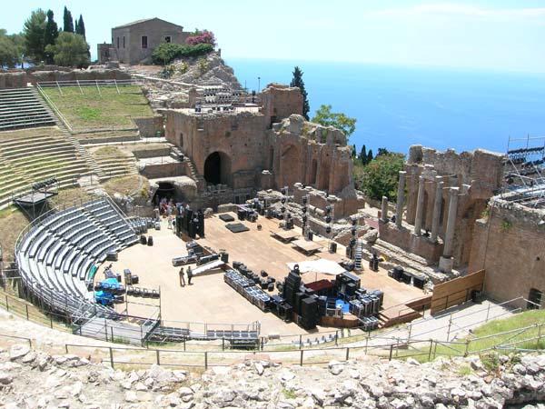 Il Teatro greco-romano antico di Taormina