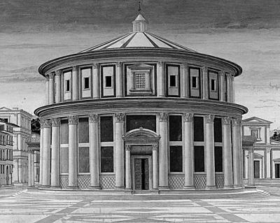 Immagine opera selezionata non disponibile. Città ideale (autore sconosciuto), Galleria Nazionale delle Marche, Urbino
