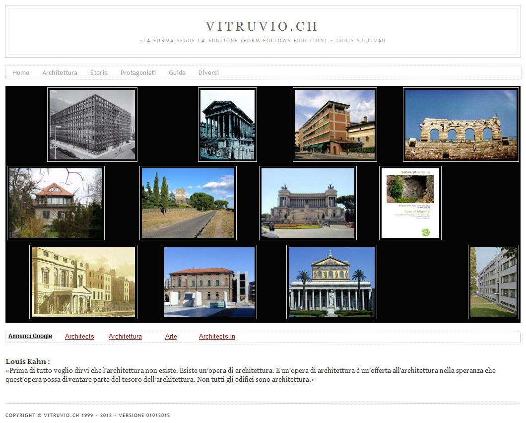 Vitruvio.ch - Versione 2010-2018