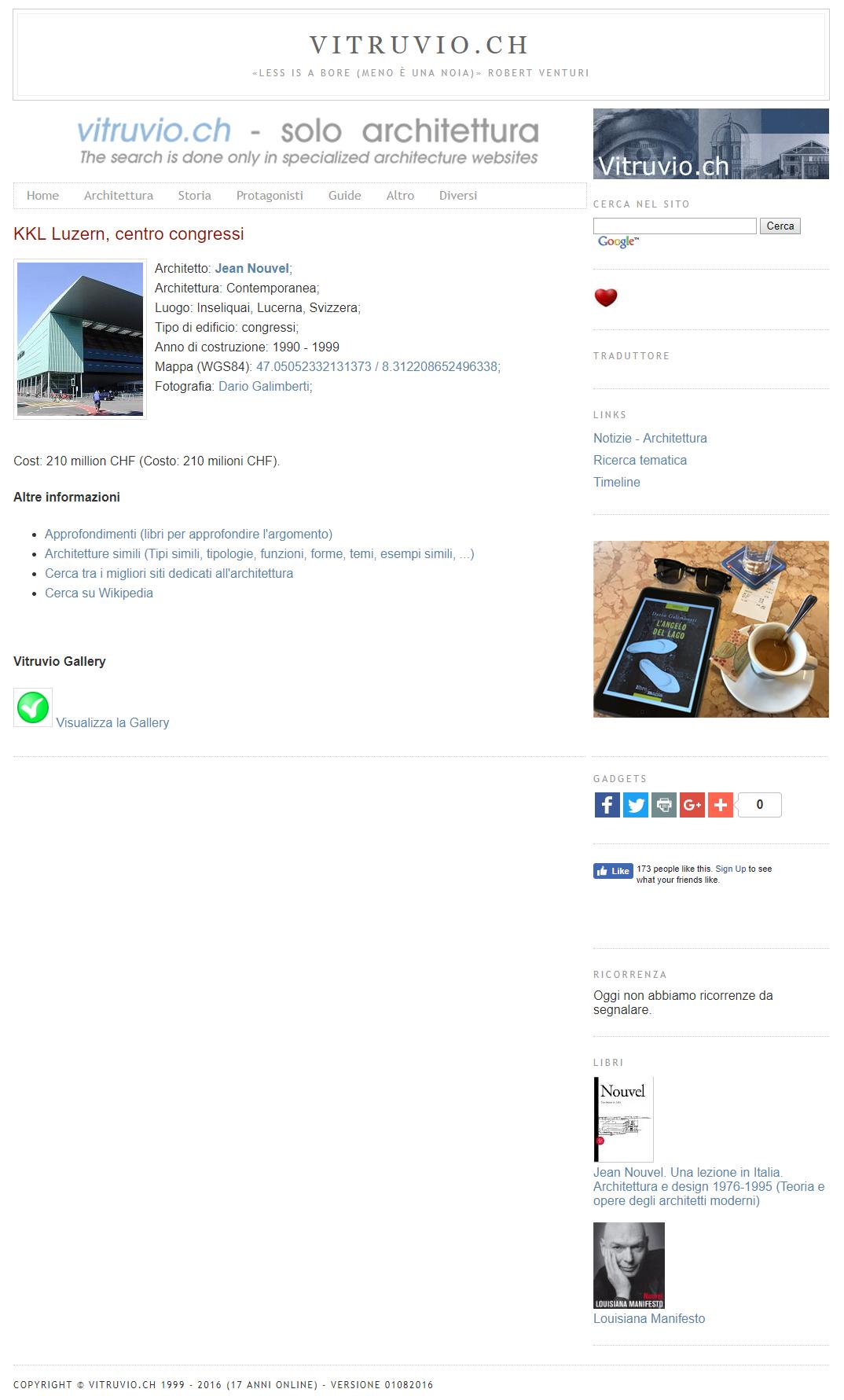 Vitruvio.ch - Versione 2016
